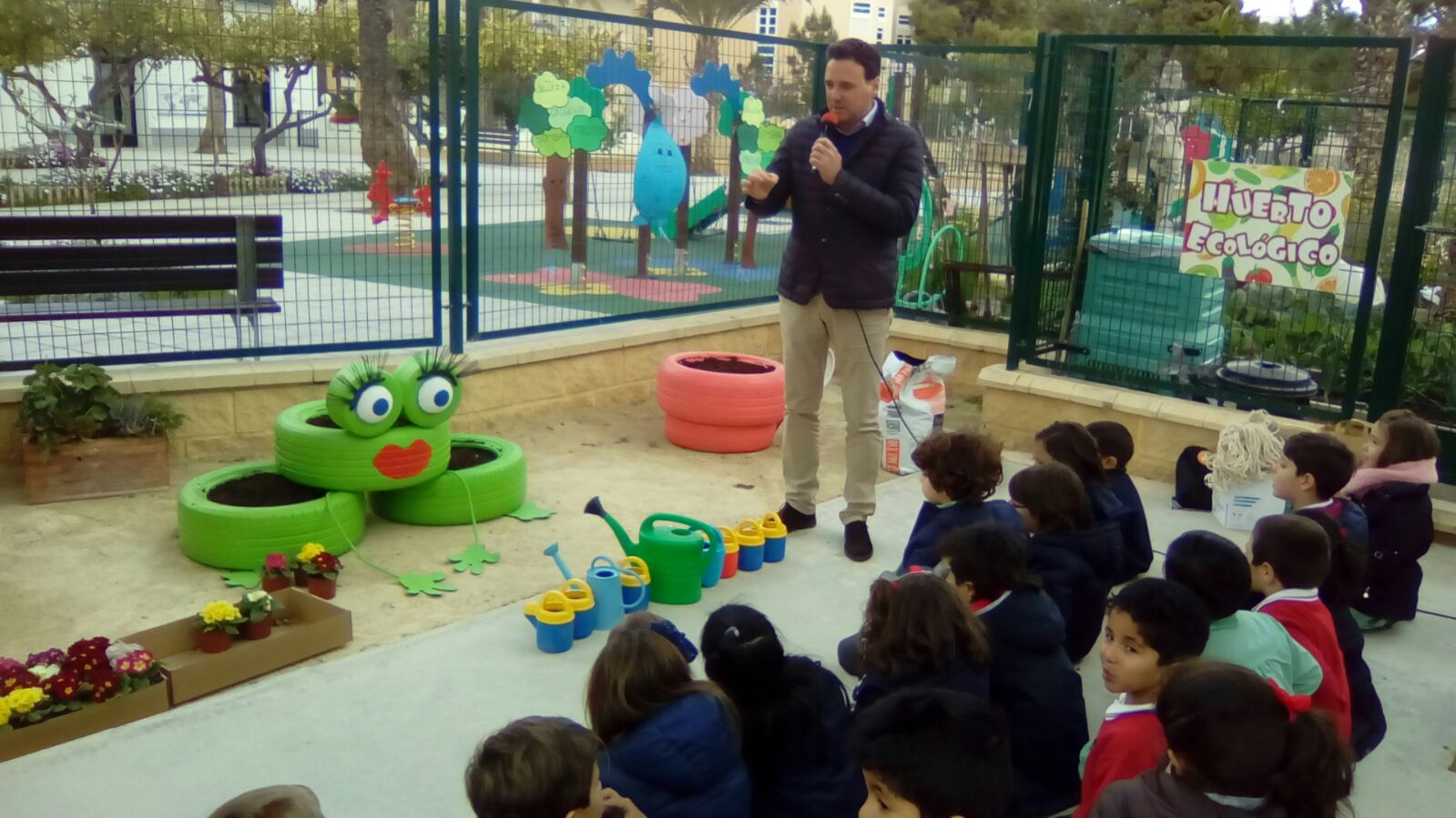 The Department of Environment celebrates the Day of the Tree and Water Day with the youngest
