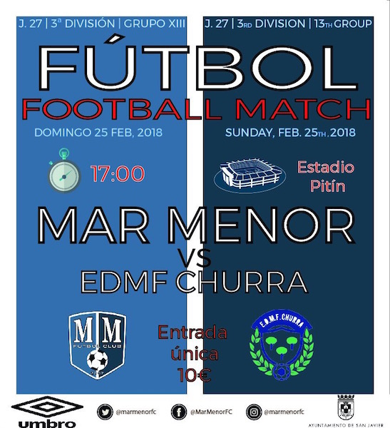Fútbol. Mar Menor - EDMF Churra